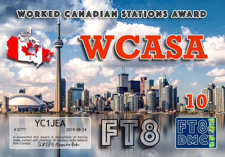 Worked Canadian Stations Award