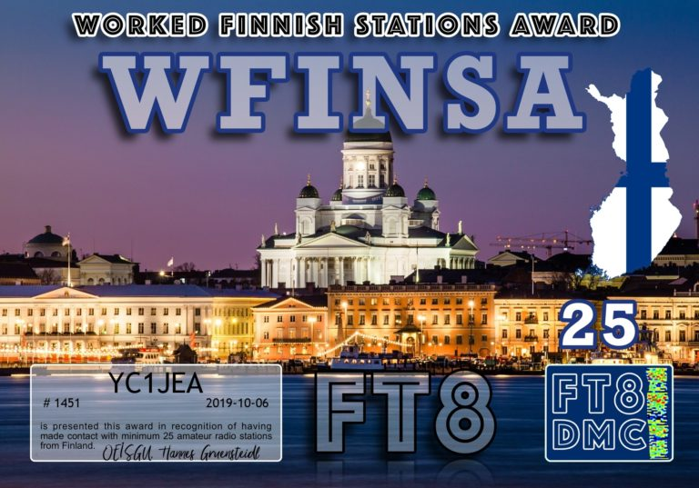 Worked Finnish Stations Award
