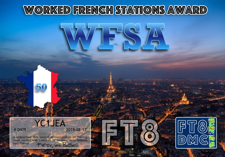 Worked France Stations Award