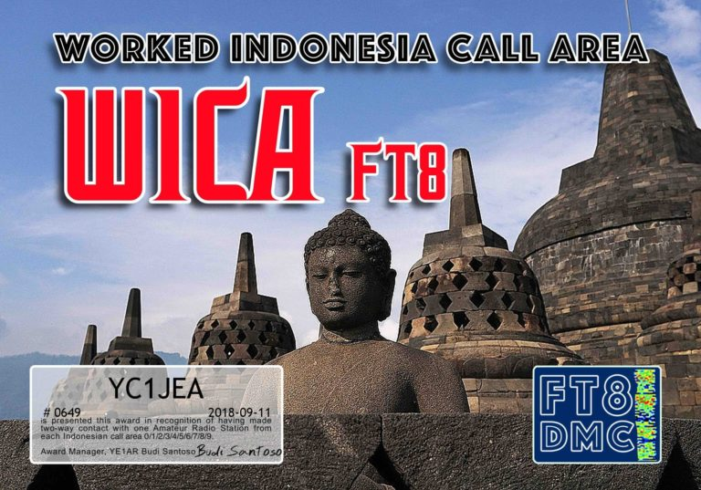 Worked Indonesia Call Area