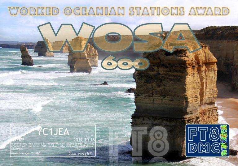 Worked Oceanian Stations Award