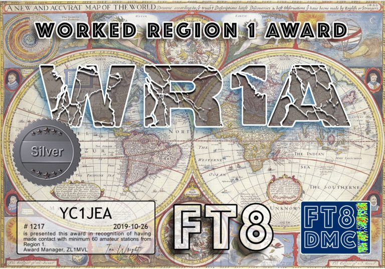 Worked Region 1 Award