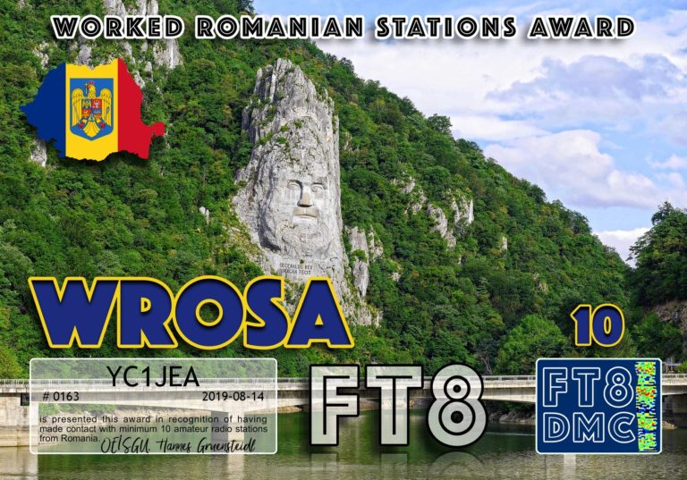 Worked Romanian Stations Award