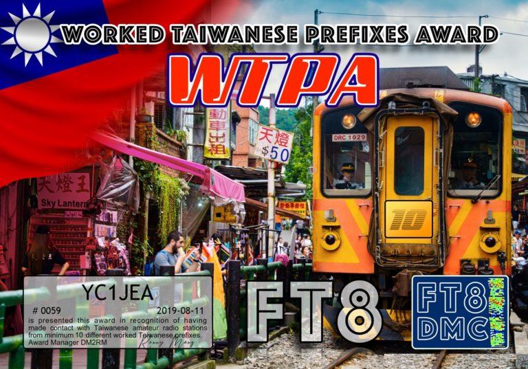 Worked Taiwanese Prefixes Award