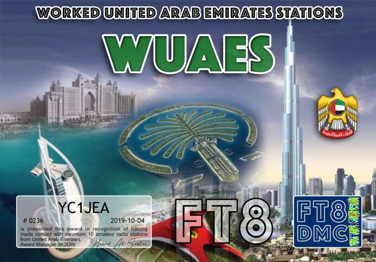Worked United Arab Emirates Stations