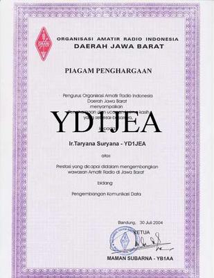 Penghargaan Dalam Mengembangkan Wawasan Amatir Radio di Jawa Barat