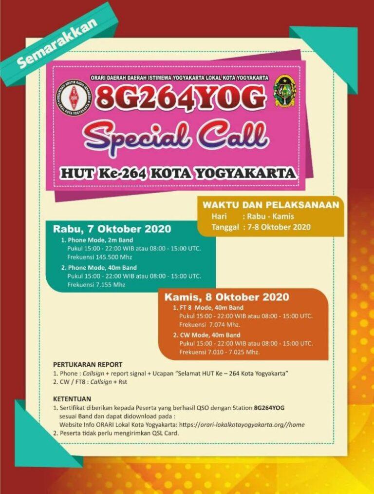 Special Call 8G264YOG Hari Jadi Kota Jogyakarta ke 264