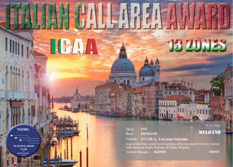 ITALIAN CALL AREA AWARD (ICAA)