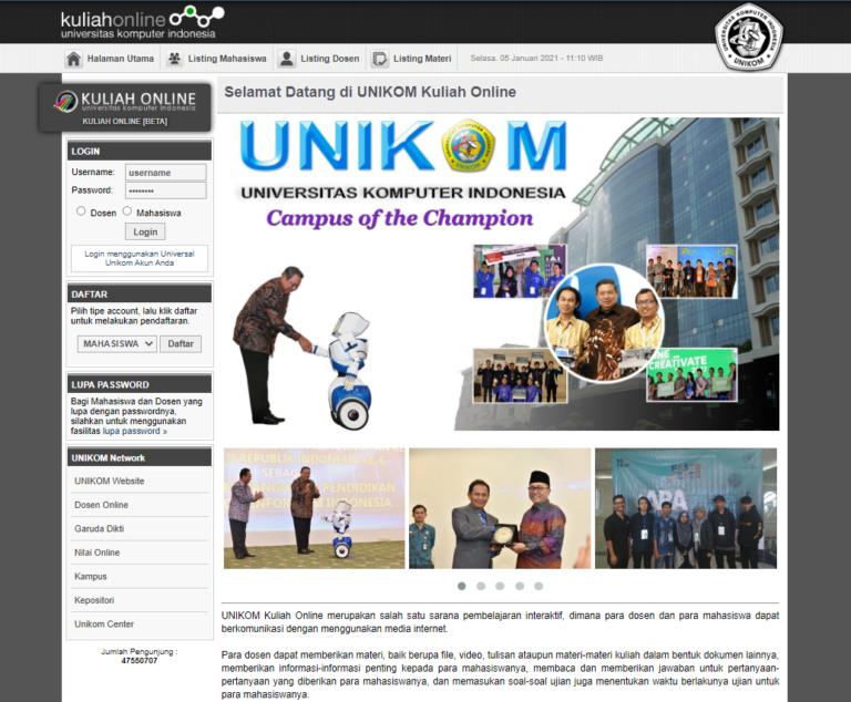 Performa Website Kuliah Online Unikom